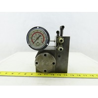 4 Port Hydraulic Manifold 3 Valve Section Pressure Reducing Flange