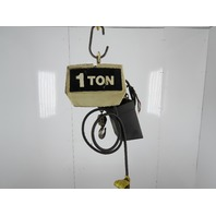 Coffing EC-2016-3 1 Ton 2000lb Electric Chain Hoist 10' Lift 16FPM 230/460V 3Ph