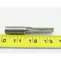 "Alliance 15185-0-00 7/16"" 4 Straight Flute Coolant Thru Carbide Square End Mill"
