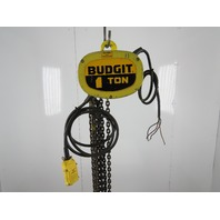 Budgit K616-2R 11650127 1 Ton Electric Chain Hoist 21' Lift 16/5FPM 2 Speed 460V