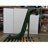 "Livonia C-14 Magnetic Incline Conveyor 12""W 22x12"" Infeed 77"" Discharge No Motor"