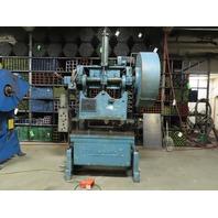 "Rousselle No.6B-48 60 Ton Double Crank OBI Flywheel Press 4"" Stroke 460V 3Ph"