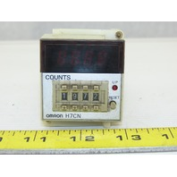 Omron H7CN-XLNM 100-240V 4 Digit Preset Counter Socket Mount