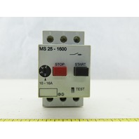 Automation Direct MS 25-1600 600V 10Hp 3Ph 10-16A Trip Manual Motor Starter