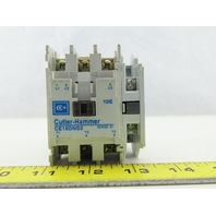 Cutler Hammer CE15DNS3 18A 600V Magnetic Contactor 120V Coil With Auxiliary