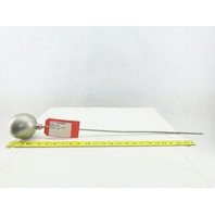 "55-3-316 3"" Dia. 316 Stainless Steel Float Ball W/ 1/4""x24"" Long Rod"