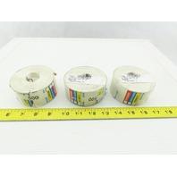 "OSHA Hazcom Chemical DOT Labels Stickers 1-5/8"" x 3"" 500 Per Roll/Lot of 3 Rolls"