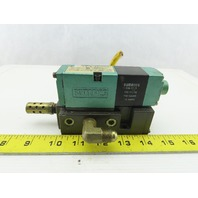 Numatics 082SA431K047J30 110/120V 150PSI 4/2Position Solenoid Valve On Manifold