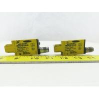 Banner SM2A312LVAGQD Mini Beam 24-240V Retroreflective Sensor Lot Of 2