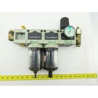 "Numatics F32D-06C FlexiBlok 3/4"" Inline Air Filter Regulator Lubricator FRL"