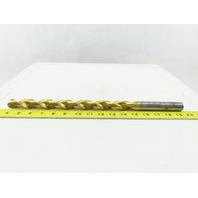 """Guhring 22.05mm x 16-1/8"""" OAL HSS Drill Bit 2 Flute Twist Spiral"""