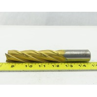 "Niagara N37320 1"" HSS, 5.441 Lead Square End Mill 4-Flute 6-1/2 OAL, 4"" LOC"