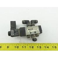 "Premier V500001US 4/2 Position 24V Solenoid Operated Air Valve 1/4"" Ports"