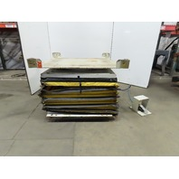 """Airfloat 2000Lb Pneumatic Air Scissor Lift Table 50x50"""" Turntable Top 14 to 35"""""""