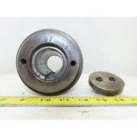 "4-1/8"" OD 4-3/4"" Wide 5 Groove V-Belt Drive Pulley 1-5/8"" Bore 3V Section"