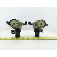 """SMC AR2560 1/4"""" 15-120PSI Inline Air Pressure Regulator Lot Of 2"""