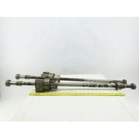 Kitako 25mm x 900mm V-MT4-120G CNC Lathe Axis Ball Screw Lot of 2