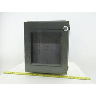 Hoffman A-1412CHQR 14x12x6 Hinged Door Electrical Enclosure Cabinet W/Backplate
