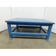 "56x36x25-1/4""H Welding Assembly Layout Table Bench Machine Base 1-1/4"" Thick Top"