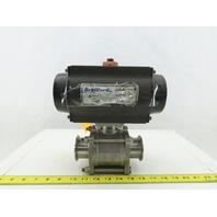 "Bradford Dixon RP-BA-101-SR Pneumatic Actuator 1-3/4"" Sanitary Ball Valve"