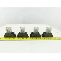 Omron MY2N-D2 24VDC Relay W/Base Lot of 4