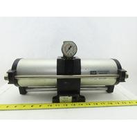"MPS CP001 15-150PSI Input 200PSI Output Air Pressure Booster Regulator 1/2"""