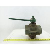"""Homstead 1529B1 FIG-611 Semi Steel Plug Valve 2-1/2"""" NPT 200 OWG W/Handle"""