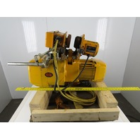 Harrington NER020S 2 Ton Chain Hoist 18'Lift 28FPM 208-230V Powered Beam Trolley