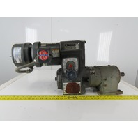 US Motors 11.39:1 Ratio 1/2Hp 3Ph 208-230/460V Syncrogear Varidrive Brake Motor