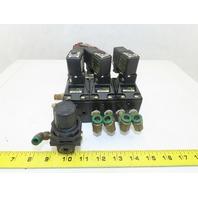 ASCO 26490027 Joucomatic 4/2 Position Pneumatic Valve Bank 24VDC Coils