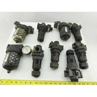 """Master Pneumatics FD100-6X R100-6SR303 3/4"""" NPT Air Filter Regulator Lot of 9"""
