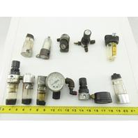 """Master Pneumatics 203Y R56 1/4"""" Air Filter Regulator Lubricator Misc Lot Of 10"""