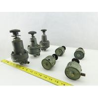 "Nullmatic 41-550 1/8"" 1/4"" NPT Air Pressure Regulator Mixed Lot Of 7"