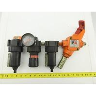 "Parker 11F28EC 06F28BC 3/8"" NPT Airline Filter Regulator Lubricator LOTO Exhaust"
