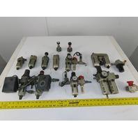 "SMC NAL 3000 AW200 1/4"" 3/8"" NPT Air Filter Regulator Lubricator Mixed Lot of 16"