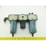 "Parker B4569B 1/2"" NPT Pneumatic Air Filter Regulator Lubricator FRL"