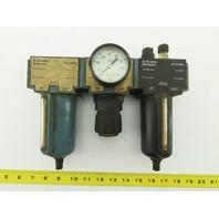 """Schrader Bellows 4579-3000 1/4""""NPT Pneumatic Air Filter Lubricator Regulator FRL"""