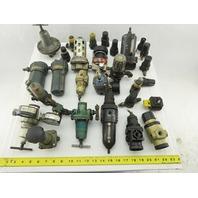 "R08-201-RGMA Huge Mixed Lot 1/4""NPT Air Regulators Filters Lubricators 25+Pieces"