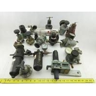 "Watts R11-02C Huge Mixed Lot 1/4"" NPT Regulators Filters Lot Of 15+ Pieces"