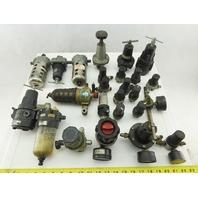 """ARO 126121-000 Huge Mixed Lot 1/4"""" NPT Regulators Filters Lot Of 12+ Pieces"""