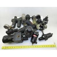 """Parker 07R313AC Huge Mixed Lot 1/2"""" NPT Regulators Filters Lot Of 10+ Pieces"""