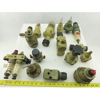 """Norgren R40-200-BNLA Huge Mixed Lot 1/4"""" NPT Regulators Filters Lot Of 10+ Pcs."""