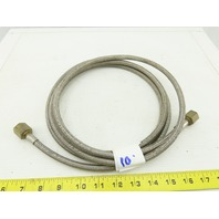 "3/8"" Stainless Steel Braided Reinforced Hose 3000 PSI WP 1/4"" NPT Female 10'"