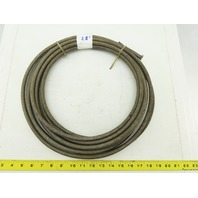 "1/4"" ID PVC Stainless Steel Braid Reinforced Hose 28'"