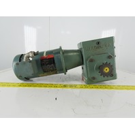 Hytrol 4A 40:1 Ratio 208-230/460V 1Hp 43RPM Right Hand Output Gear Motor