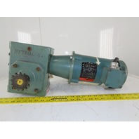 Hytrol 4A 40:1 Ratio 208-230/460V 1Hp 43RPM Left Hand Output Gear Motor