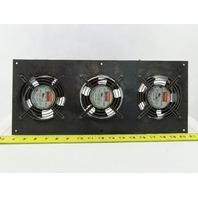 Dayton 6KD76 115V 107 CFM Panel Mount Cooling Fan Bank