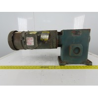 Reliance 140/350-30 Inline Gear Motor 30:1 Ratio 2Hp  208-230/460V 3Ph W/Brake