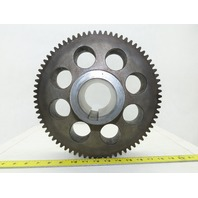 303mm OD 74T 13mm Pitch 45mm Wide 70mm Bore External Tooth Spur Gear
