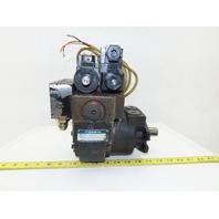 """Daikin EDM 174A-1R2-3-10-052 Hydraulic Motor W/ Valves 1"""" Shaft 100V"""